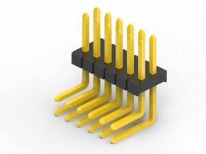 1.27mm right angle pin header dual row