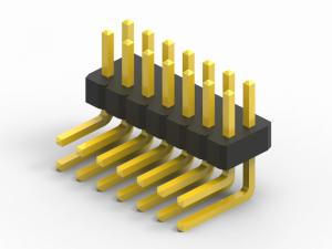 1mm right angle pin header dual row