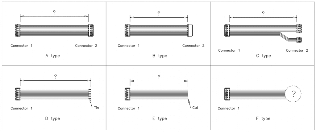 JST EH Connector cable assemblies