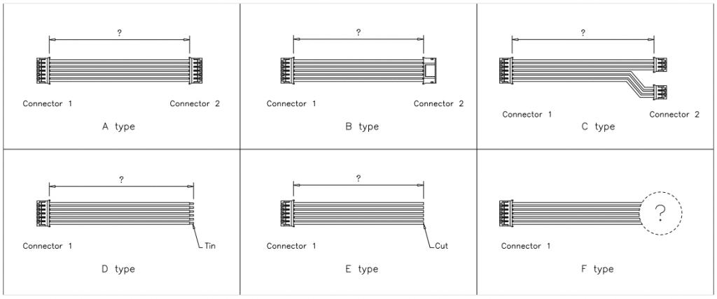 JST PH Connector cable assemblies
