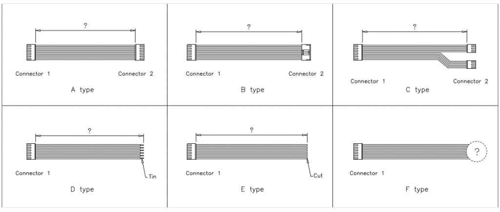 JST VH Connector cable assemblies