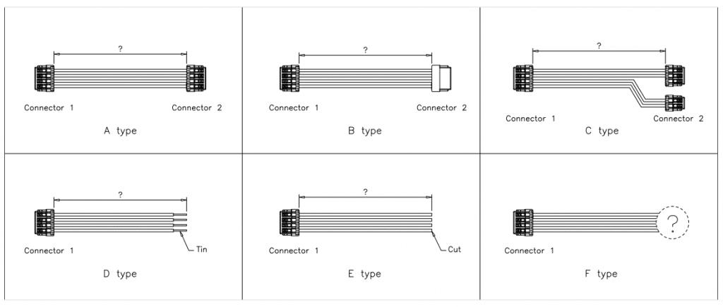 Jst Sur Connector cable assemblies